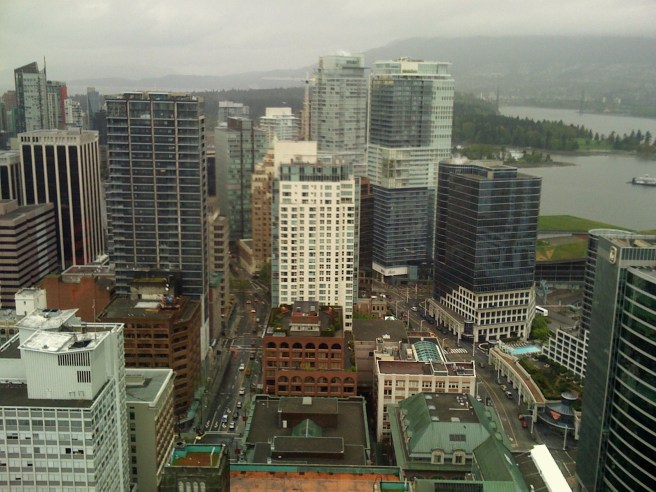 A view toward the west from Vancouver Lookout.