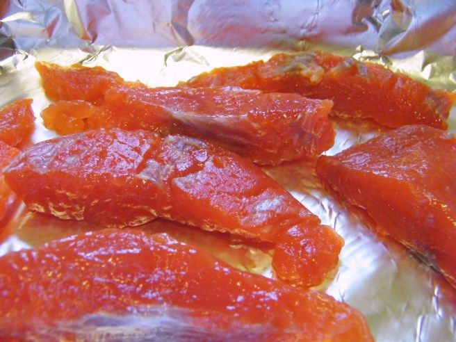 Salmon, ready for baking
