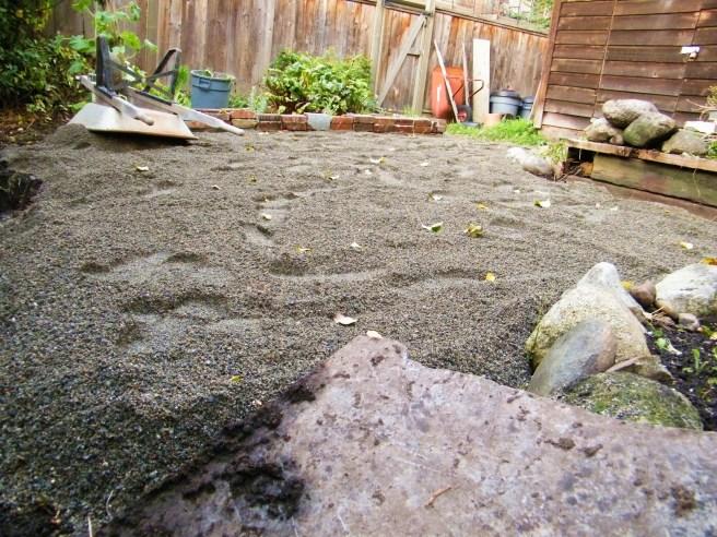 Sand laid down.