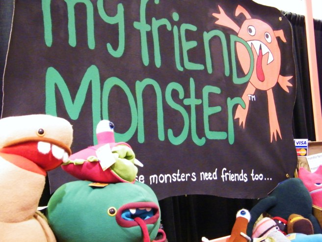 My Friend Monster's stuffed creations.