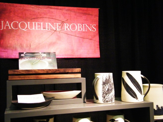 Jacqueline Robin's beautiful black and white ceramics.