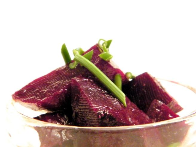 Close up of beet salad