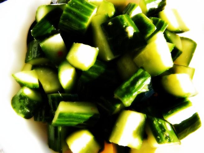 Cucumbers - mmm gingery