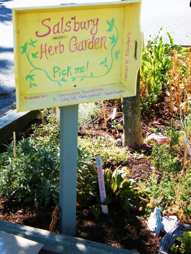 Salsbury Herb Garden.