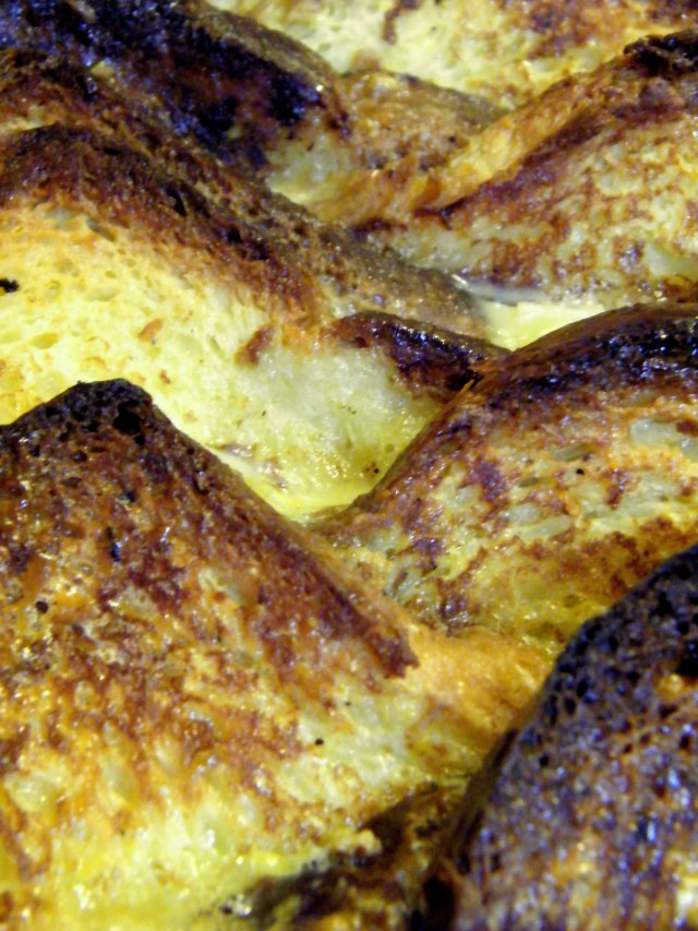 Coupétade, or French toast bread pudding.