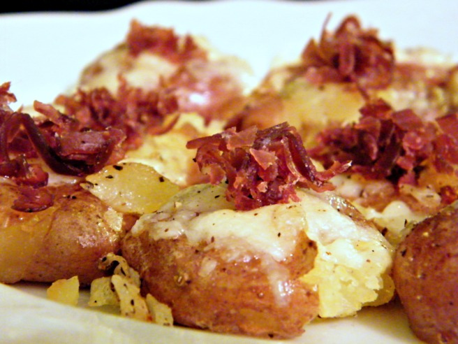 Patate Alpino - roasted creamer potatoes with Italian cheeses and Bresaola