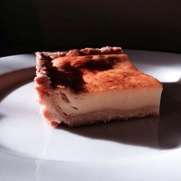 Cheesecake tart slice