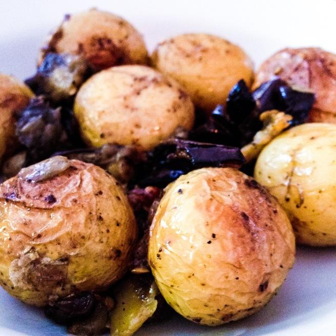 Roasted Potatoes and Eggplant