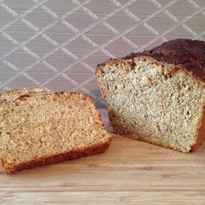 Sliced oatmeal bread