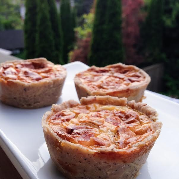 Three mini quiches