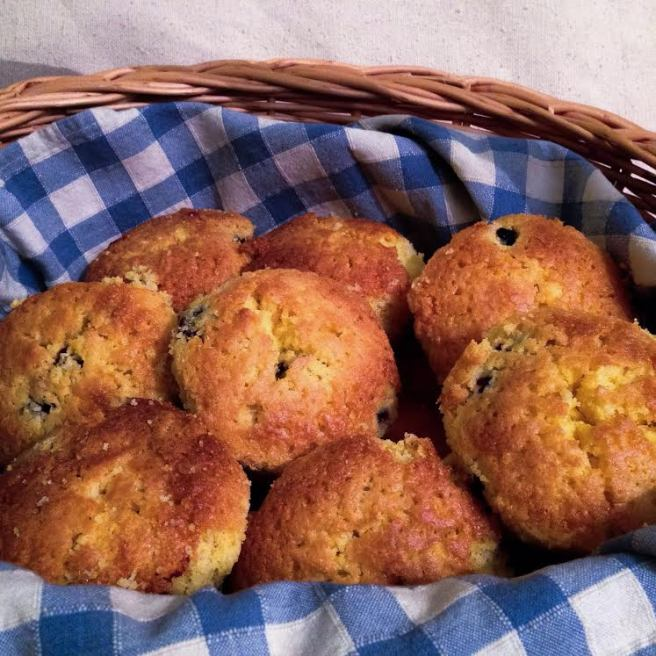 Cornmeal and Berry Cakes