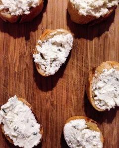 Rosemary-Oregano Goat Cheese Toasts
