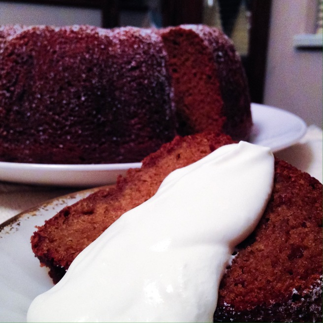 Olive Oil-Brown Sugar Pumpkin Bundt Cake