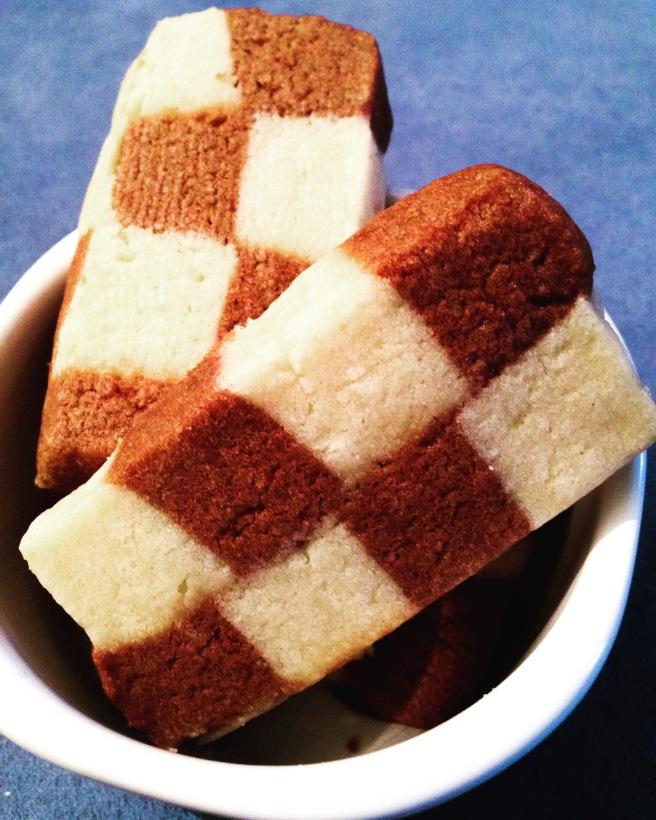 Chocolate-Vanilla Checkerboard Cookies