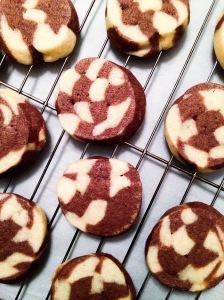 Marbled Round Cookies