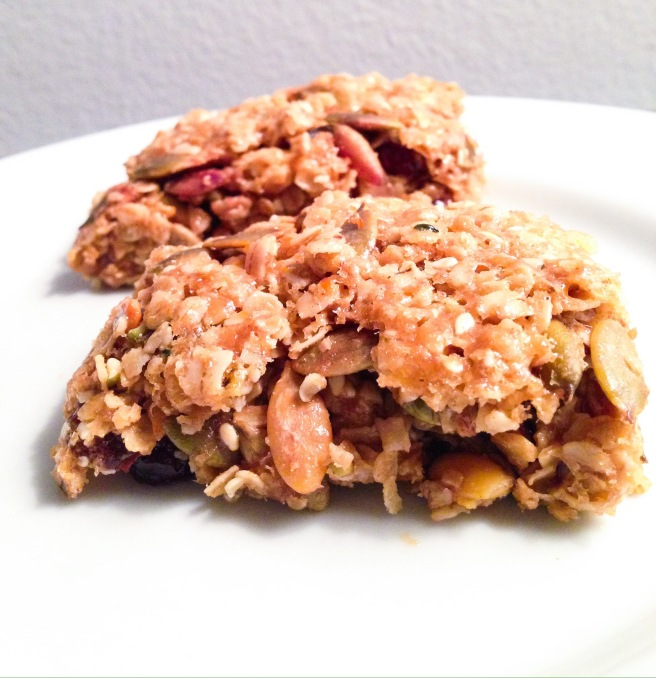 Honey and Peanut Butter Booster Bars
