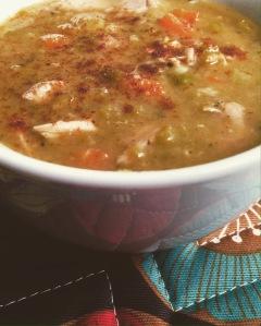 Smoky Turkey & Green Split Pea Soup