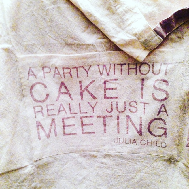 Julia Child quotation apron