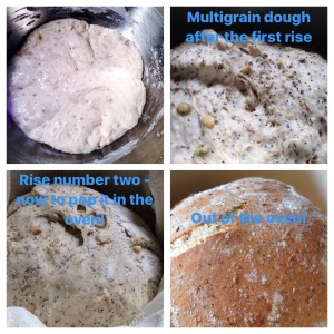 Multigrain Bread, from starter to finish.