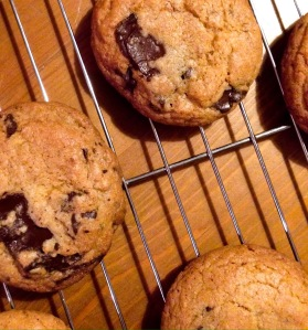 Chocolate chip cookies with a hint of nutmeg and coriander.