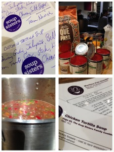 Making Chicken Tortilla Soup