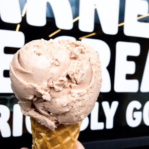 Ghost Chocolate ice cream at Earnest Ice Cream