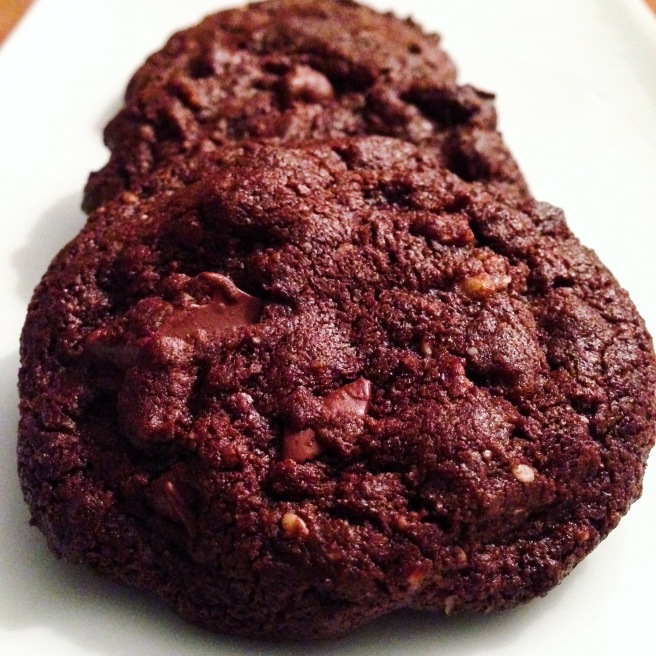 Cocoa-Tahini Cookies with Sesame Crunch
