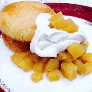 Babas with Pineapple