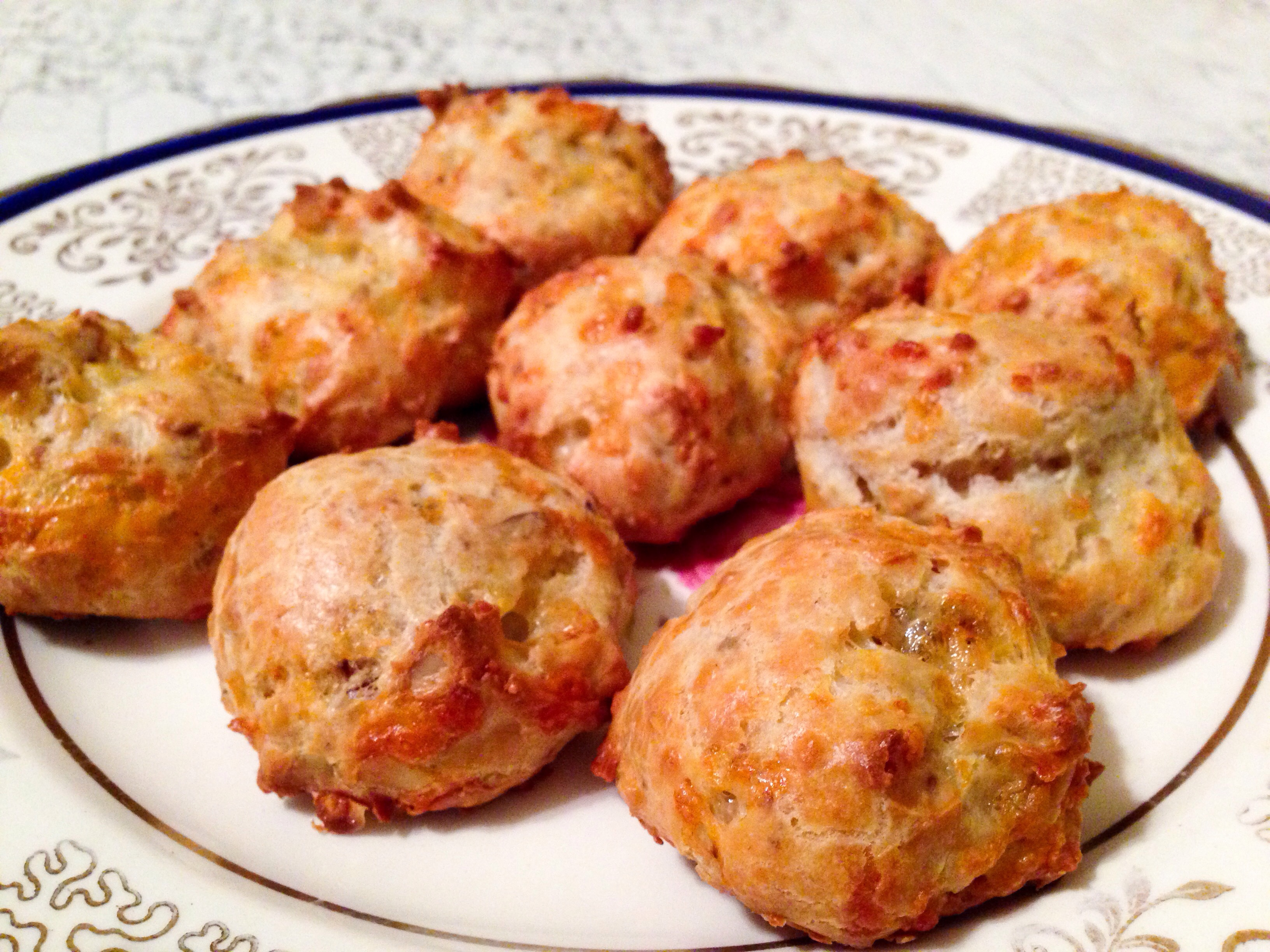 These gougères disappeared quickly!
