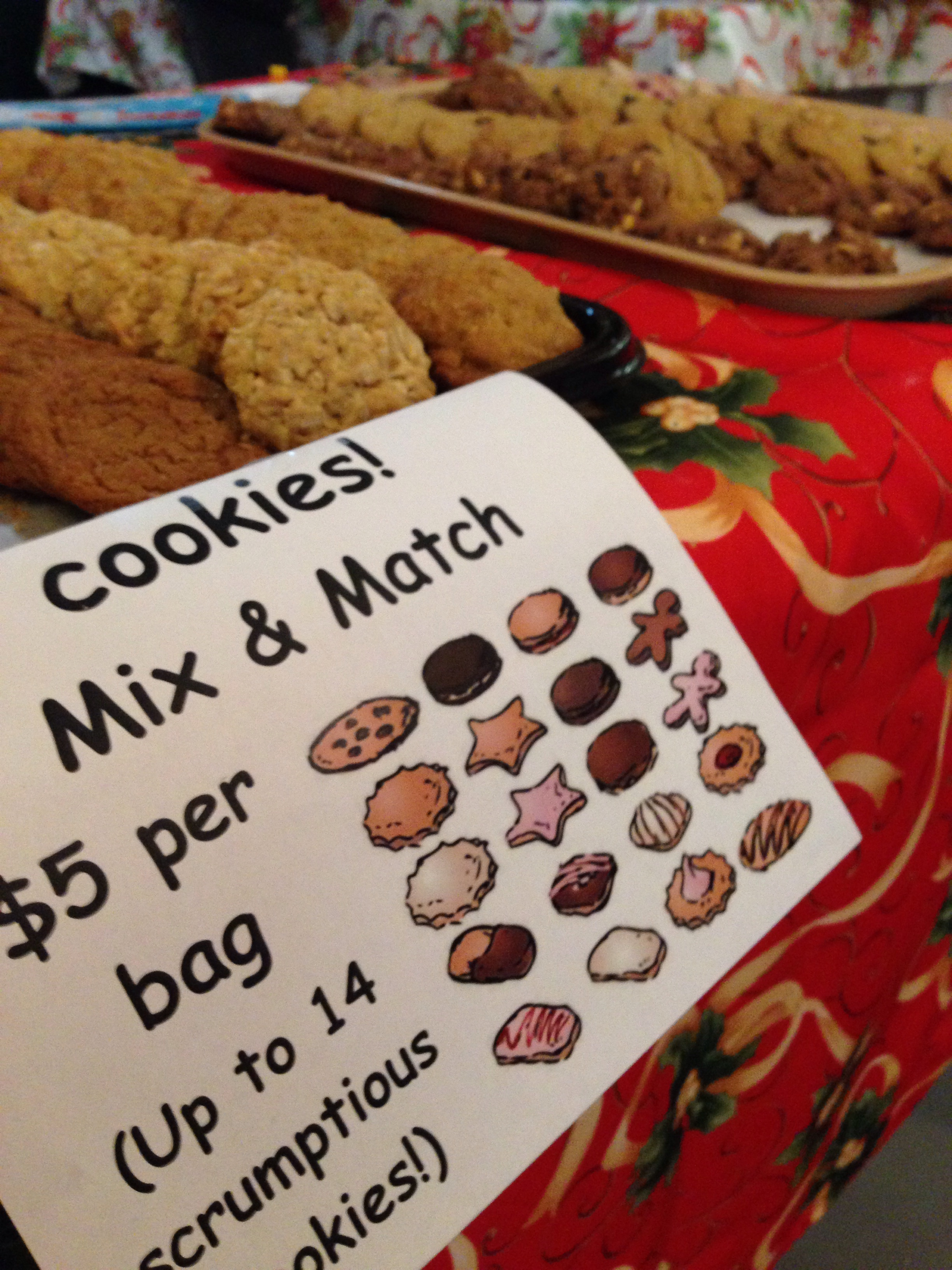 Cookie Mix and Match Bake Sale Table